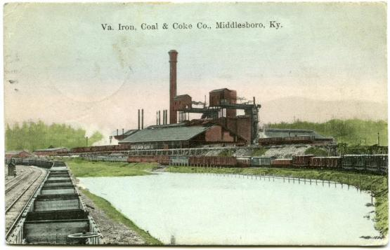 """Va. Iron, Coal &amp; Coke Co., Middlesboro, KY.  From the Postcard Collection, University of Kentucky Special Collections.  Accession number 2008ms016.  <a href=""""http://kdl.kyvl.org/catalog/xt7x696zwx82_1_4057"""">http://kdl.kyvl.org/catalog/xt7x696zwx82_1_4057</a>"""