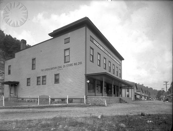 Burdine company store, Jenkins, Kentucky.  From the Consolidation Coal Company Collection, Smithsonian National Museum of American History  SI Neg. CCC-1341. Date: 7/13/1916.