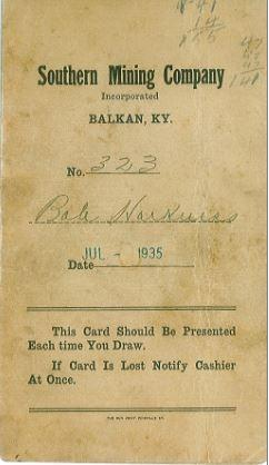 Balkan KY.  From the Walter's Family Collection
