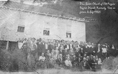 "Harold, KY&#039;s New Salem Church, September 2, 1925.  Submitted 4/2/14 by Lisa Stumbo, Director of ECHO (Embracing Cultural Heritage Opportunities), Big Sandy Community &amp; Techinical College: <a href=""mailto:lstumbo0004@kctcs.edu"">lstumbo0004@kctcs.edu</a>"