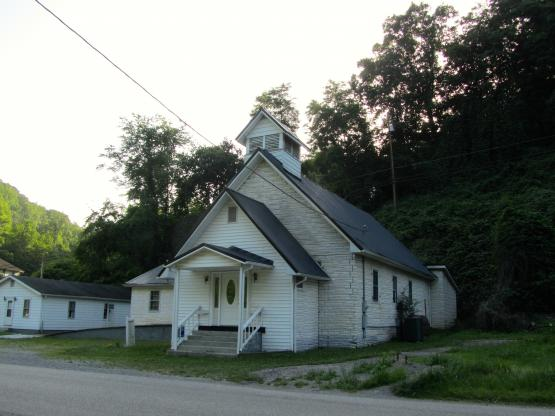 "Dunham Freewill Baptist Church built in 1920, Dunham section of Jenkins, Kentucky. 6/11/2014.   Photo by Zada Komara  <a href=""mailto:zko222@g.uky.edu"">zko222@g.uky.edu</a>"