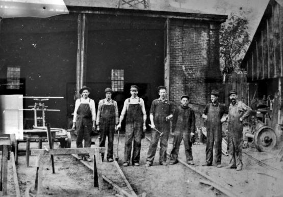 Ohio & Kentucky Railroad workers at Cannel City, KY.  Submitted by Andrew Jones, 4/1/14.