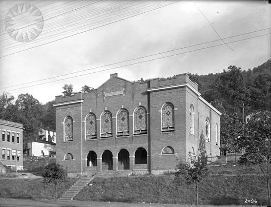 Jenkins Methodist Church, built by Consolidation Coal Company, 1913.  Photo from the Consolidation Coal Company Collection, Smithsonian National Museum of American History SI Neg CCC-2096 10-6-1921