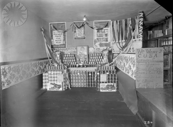 Store display at McRoberts, 11/12/1926.  From the Consolidation Coal Collection, Smithsonian National Museum of American History  SI Neg. CCC-2814.