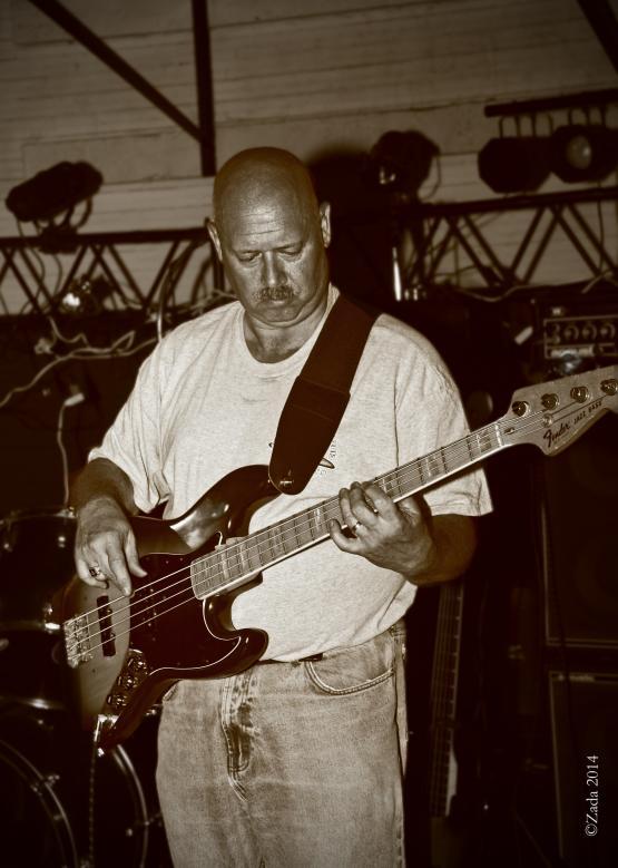"""Bassist Curt Lee from local band Longshot playing the 2014 Wayland Reunion.  Photo by Zada Komara 8/31/2014 <a href=""""mailto:zko222@g.uky.edu"""">zko222@g.uky.edu</a>"""