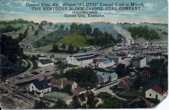 "Postcard of birdseye view of Cannel City, ca. early 1900s, published by L.C. Krupp Company, Milwaukee.  Submitted by Andrew Jones on 4/4/14.  <a href=""mailto:euclidandy@aol.com"">euclidandy@aol.com</a>"