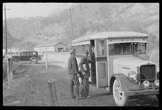 "Coal miners, Jenkins, Kentucky, October 1935.  Photo by Ben Shan  from the Library of Congress Prints and Photographs Division <a href=""http://www.loc.gov/pictures/item/fsa1997016902/pp/"">http://www.loc.gov/pictures/item/fsa1997016902/pp/</a>"