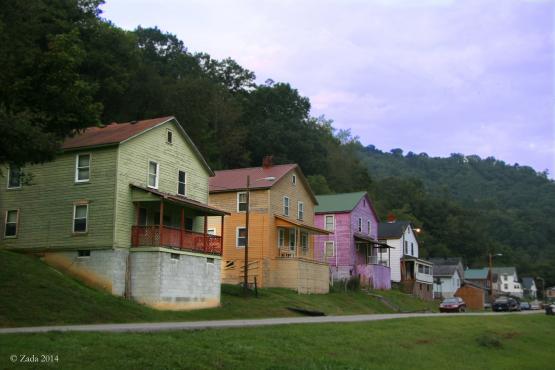 "Former company houses on Railroad St. facing east, Wayland, Kentucky.  Photo by Zada Komara 8/31/2014 <a href=""mailto:zko222@g.uky.edu"">zko222@g.uky.edu</a>"