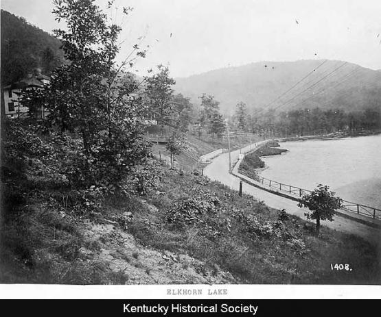 "Elkhorn Lake ca. 1916.  From the Consolidation Coal Collection, 1987PH17, Kentucky Historical Society <a href=""http://www.kyhistory.com/cdm/singleitem/collection/PH/id/580/rec/82"">http://www.kyhistory.com/cdm/singleitem/collection/PH/id/580/rec/82</a>"