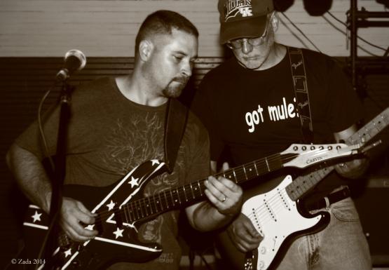 "Guitarists Kevin Allen and Greg Couch of local band Longshot playing Wayland&#039;s 2014 reunion.  Photo by Zada Komara 8/31/2014 <a href=""mailto:zko222@g.uky.edu"">zko222@g.uky.edu</a>"