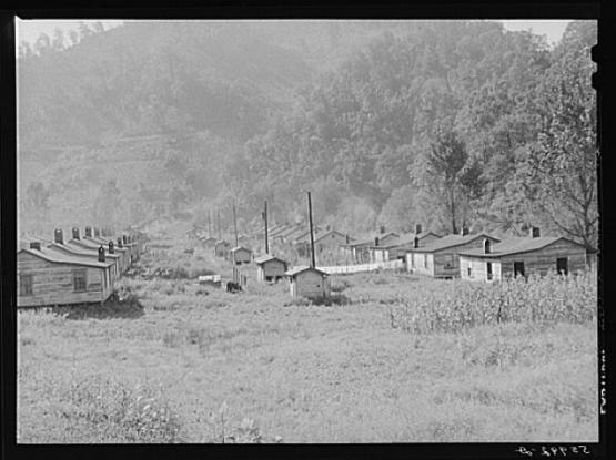 "Mining homes in Virgie, Kentucky, September 1940.  From the Library of Congress Prints and Photographs Division, LC-USF34-056021-D  <a href=""http://www.loc.gov/pictures/resource/fsa.8c13763/"">http://www.loc.gov/pictures/resource/fsa.8c13763/</a>"