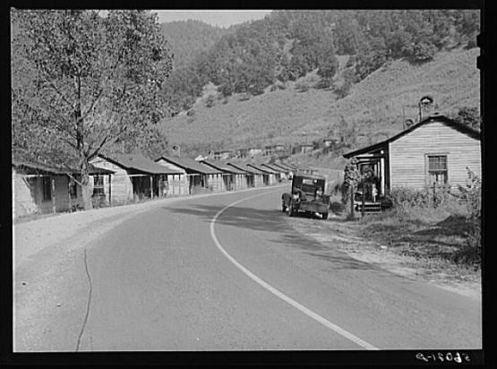 "Company homes in mining town, Virgie, Kentucky, September 1940.  From the Library of Congress Prints and Photographs Division, LC-USF34-056021-D  <a href=""http://loc.gov/pictures/resource/fsa.8c13792/"">http://loc.gov/pictures/resource/fsa.8c13792/</a>"