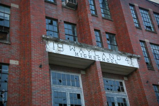 "Former Wayland School building.  Operated as Wayland High School from 1941 to 1972 and Wayland Grade School from 1973 to 1990.  Photo by Zada Komara 8/31/2014 <a href=""mailto:zko222@g.uky.edu"">zko222@g.uky.edu</a>"