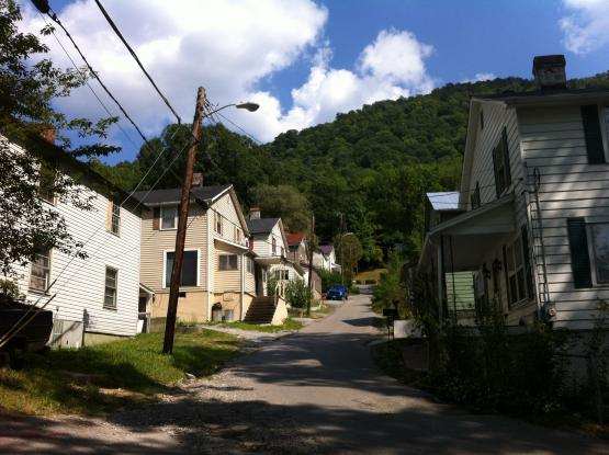Houses built by the Consolidation Coal Company at Wheaton Hollow, Jenkins KY.  Photo by Zada Komara